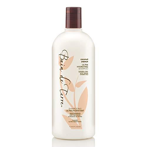 Bain de Terre Coconut Papaya Ultra Hydrating Shampoo, with Argan and Monoi Oil, Paraben-Free, 33.8-Ounce