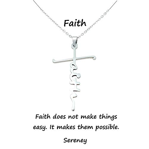 Faith necklaces for women Cross necklace for girls Religious gifts for birthday friendship, Girl Baptism, First Communion, Christening, Confirmation