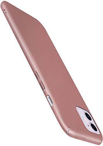 moex Alpha Hülle kompatibel mit iPhone 12 Mini - Hülle Ultra dünn, Handyhülle aus Hartplastik, Schutzhülle matt Hardcase, Rosegold