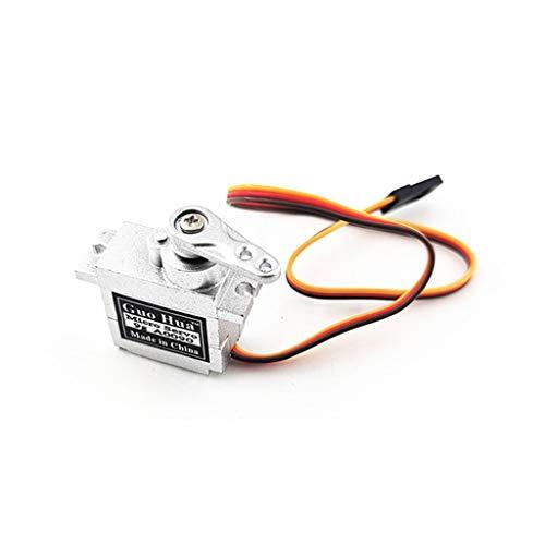 Kompatibel mit MN D90 D91 WPL B1 B14 B16 B24 C14 C24 B36 1:16 LKW 4WD RC Crawler Metall Gear Servo + Metallarm Upgrade Teile (Silber, A)