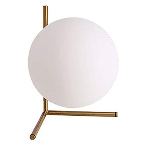 bella Una palla galleggiante di vetro lampada da tavolo sferica con telaio 20.0cm diametro della sfera) Lampada da tavolo realizzata in vetro opalino