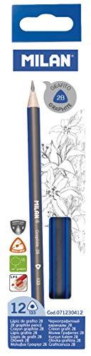 MILAN 071230412 - Caja con 12 lápices de grafito triangulares