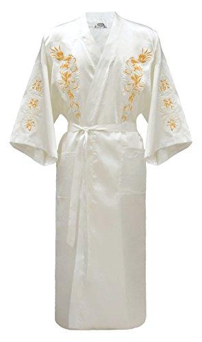 Geborduurde Japanse Kimono Robe Slaapkleding Jurk voor Mannen