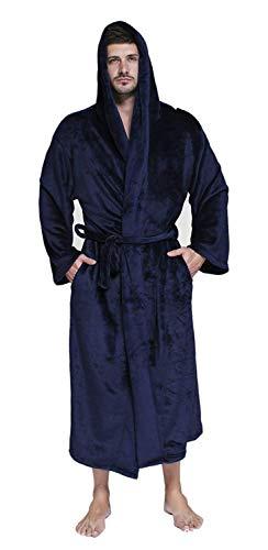 Morgenmantel Damen Herren Unisex Pärchen Herbst Kimono Winter Unifarben Casual Schlafanzug Festlich Langarm V-Ausschnitt Mit Taschen Gürtel Bademantel Nachthemd