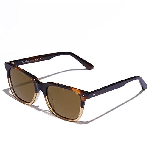 Carfia Gafas de Sol Mujer y Hombre Polarizadas UV400 Protección Rectangular Acetato Marco Glasses para Conducir, al aire libre, Moda