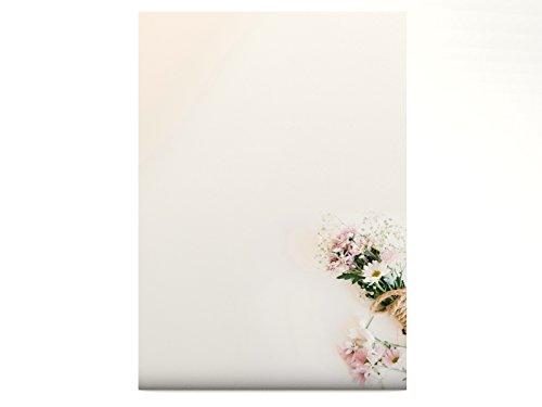 Blumen Pastell Frühling Motivpapier Frühlingsstrauß, 20 Blatt Motivpapier DIN A4, 90g/qm