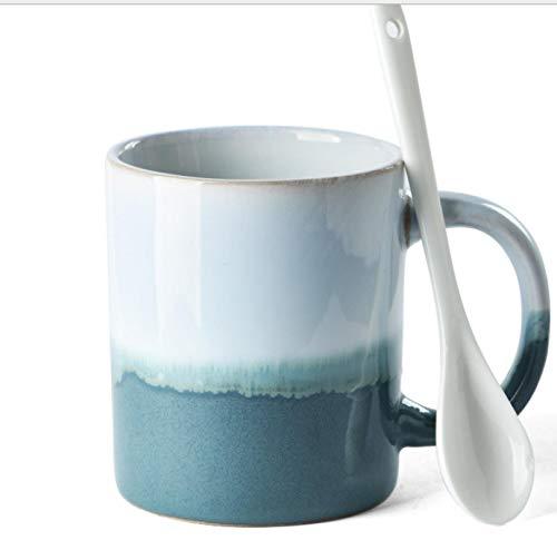 Taza de cerámica de la taza de agua Taza de café simple del color de la pendiente casera B