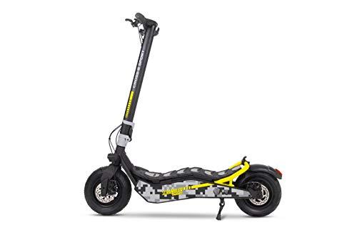 Cross-e Sport Ducati - Patinete eléctrico, Motor 500 W, autonomía hasta 35 Km, Carga máxima 120 kg, Plataforma XL, Cuadro de aleación de Acero, neumáticos 110/50 – 6,5 Pulgadas sin cámara.