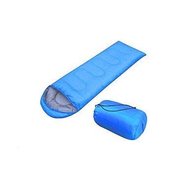 ZYT Sac de couchage Rectangulaire Coton creux 210 Randonnée / Camping / Plage / Pêche / Voyage / Chasse Etanche . blue