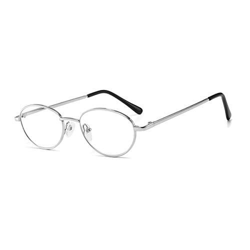 HAOXUAN Marco de Metal Lector de anteojos, Anti-óptica de la luz Azul de Alta definición, UV El Bloqueo de los vidrios de Lectura adecuados para los Hombres y Las Mujeres de,Black Frame,+1.00
