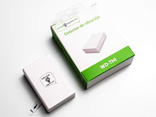Detector Vibración Inalámbrico compatible con Sistemas de Seguirdad THI | Sensor de Vibraciones o Sísmico- Señal | SIN cables, vía radio