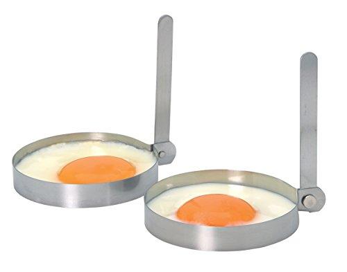 Kitchen Craft - Anillos de acero inoxidable para huevos (2 unidades)