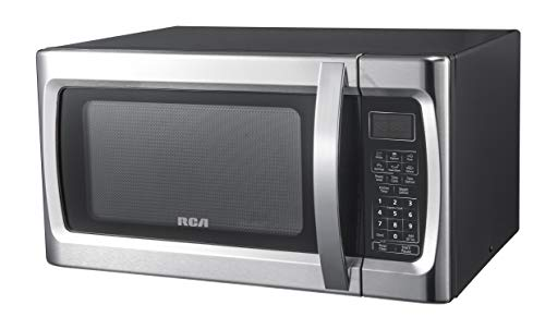 RCA RMW1178 1.1 Cu Ft Stainless Steel Countertop Microwave Oven, Multi Function, Programmable, 1000W