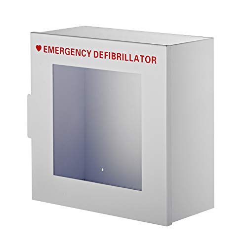 """AdirMed Non-Alarmed Steel Cabinet Defibrillators 15"""" W x 15"""" H x 7"""" - Standard Wall Mounted Enclosure - Easy Access Storage for Emergency Situation for Home & Office"""