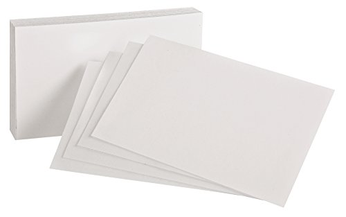 """Oxford Blank Index Cards, 3"""" x 5"""", White, 100 Per Pack (40150-SP)"""