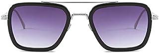 """اطار نظارة شمسية ترجع الى شخصية الممثل داوني """"ايرون مان - توني ستارك"""" مربعة مصنوعة من المعدن للرجال والنساء (باطار فضي ومر..."""