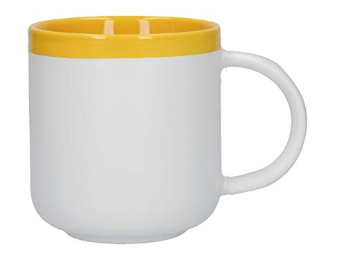 Becher, Tasse La Cafetière Barcelona grau gelb Keramik KitchenCraft