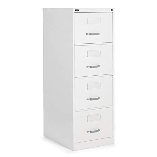 Global 4-Drawer Legal Size Vertical Lock Metal File Cabinet in Designer White