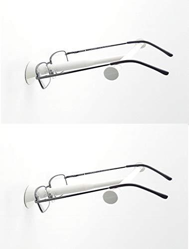 B&K Wand-Brillenhalter Base Doppelpack - multifunktional - Brillen ablegen - fertig! 2 Brillenablagen (Weiss)