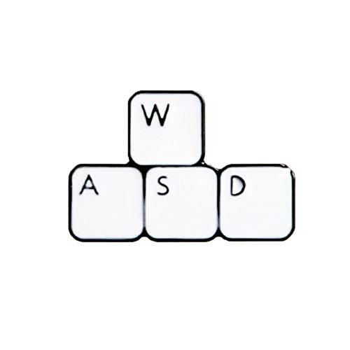 PCBDFQ Brosche Tastatur Videospiel Origami Würfel Abzeichen Brosche Anstecknadel Jeans Hemd Tasche Cartoon Schmuck Geschenk