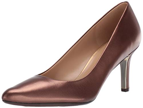 Naturalizer womens Natalie Pump, Cocoa Pearl Leather, 8.5 Wide US