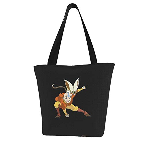 Avatar The Last Airbender Women Canvas Tote Anime Custom Bucket Bag Essential Everyday Fashion Bolso de hombro Bolso espacioso y espacioso