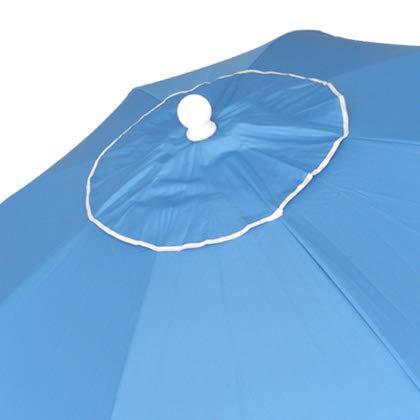 Sombrilla 240 cm Tela de poliéster con Protección Solar UPF50+ (bloquea 99% de Rayos UV),Sombrilla de Playa/jardín de Aluminio de 2,4 m de diámetro. Espiral con Punta de Aluminio Reforzado