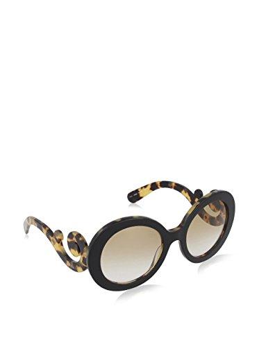 Prada Barocke Runde Sonnenbrille in schwarz grau Farbverlauf PR 27NS 1AB3M1 55 55 Grey Gradient