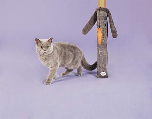 United Pets Cat Scratcher Bunny - Palo Tiragraffi da Tavolo per Gatti, di Design, Gioco Tiragraffi da Gamba del Tavolo, Grigio Antracite e Arancione