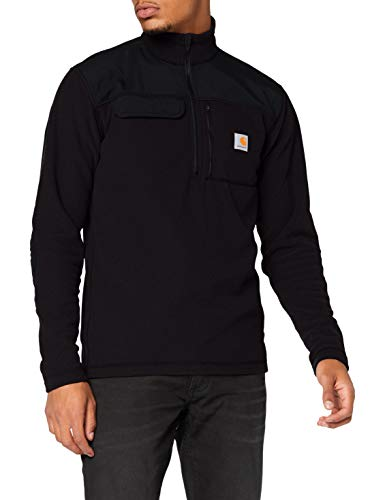 Carhartt Fallon Half-Zip Sweatshirt Maglione Pullover, Black, S Uomo