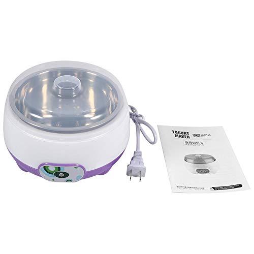 Máquina de yogur, 220V 1L Automático Forro de acero inoxidable Máquina para hacer yogur Inicio DIY Contenedor de yogur, Máquina para hacer yogur(Púrpura)