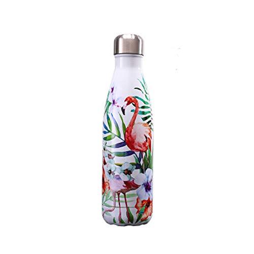 LBHH Botella Agua Acero Inoxidable 500ml,Termo Cafe para Llevar,Botella Térmica con Aislamiento de Vacío de Doble Pared,Sin BPA Aislamiento de Vacío de Doble Pared Reutilizable para Niños