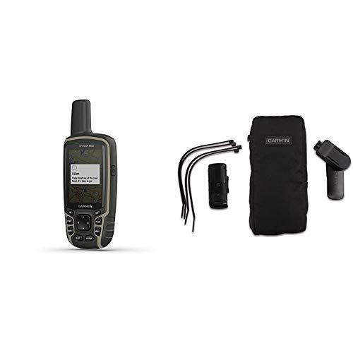 """Garmin GPSMAP 64sx - Robustes, wasserdichtes GPS-Outdoor-Navi mit 2,6"""" Farbdisplay, 3-Achsen-Kompass, Barometer & Outdoor-Halterungspaket mit Tasche kompatibel mit vielen Outdoor GPS Geräten"""