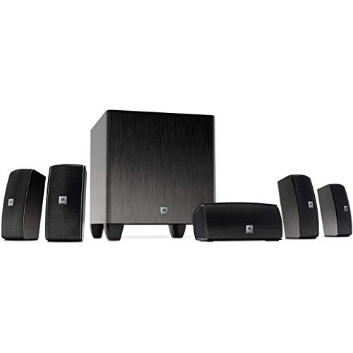 JBL Cinema 610 Advanced 5.1 Home Theater Speaker System with Powered Subwoofer (Renewed)