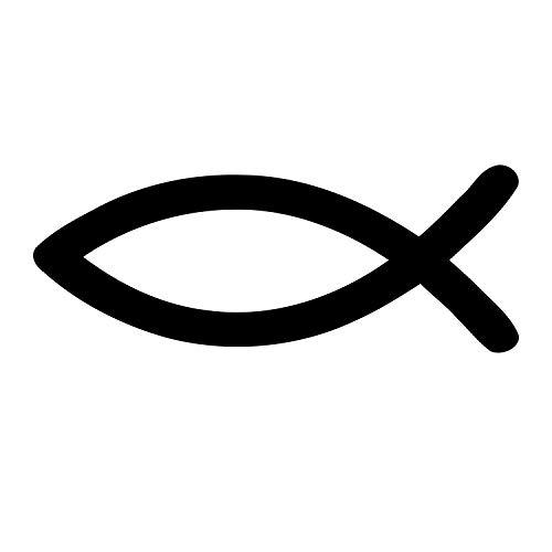 timalo® Christlicher Fischaufkleber fürs Auto 9x3cm Ichthys (schwarz)