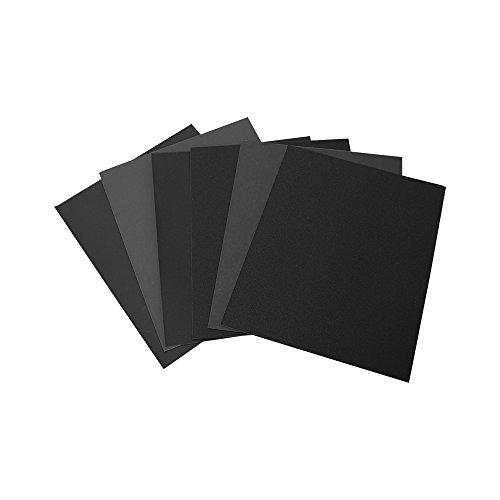 Woltersberger® 50 Bogen wasserfestes Schleifpapier 230x280 mm | Körnung P800 | Farbe Grau | beste Schleifergebnisse im Trocken- oder Nassschliff | festes Trägermaterial | kurze Einweichzeiten