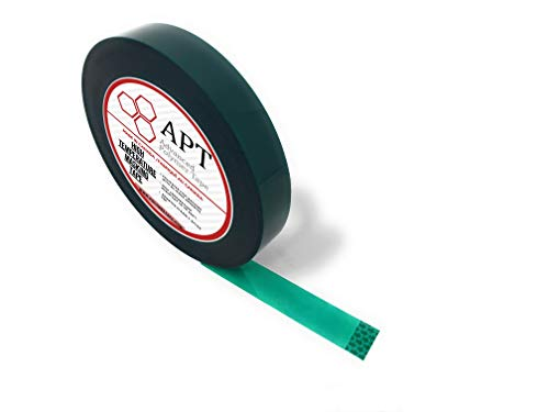 APT, 2 Mil Polyester Tape with Silicone Adhesive, PET Tape,Mylar Tape, high Temperature Tape, 3.5 mil Thickness, Powder Coating, E-Coating, Anodizing, high Temp Masking. (3/4'')