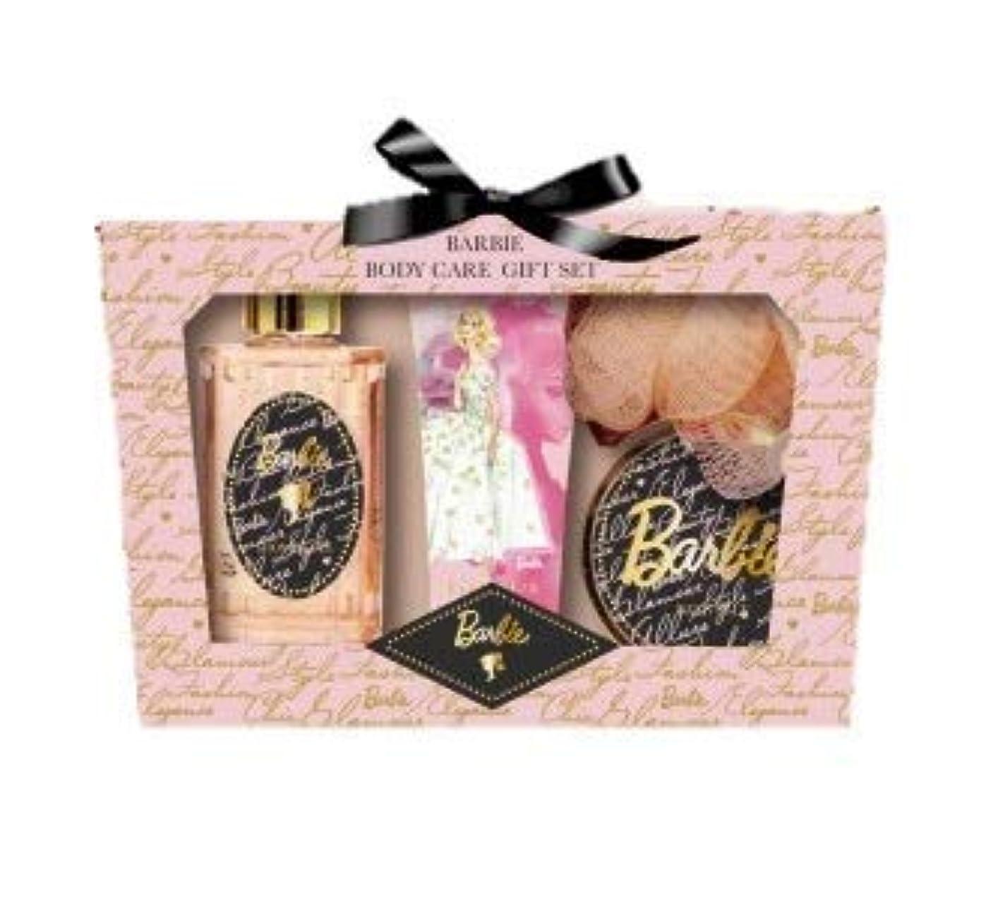 持続する恨み非難するヒューマンリンク Barbie (バービー) ボディケア ギフトセット (ローズ&ピオニーの香り) プレゼント [ハンドクリーム/シャワージェル/バスソルト/スポンジ] 入浴剤 バススポンジ ボディソープ