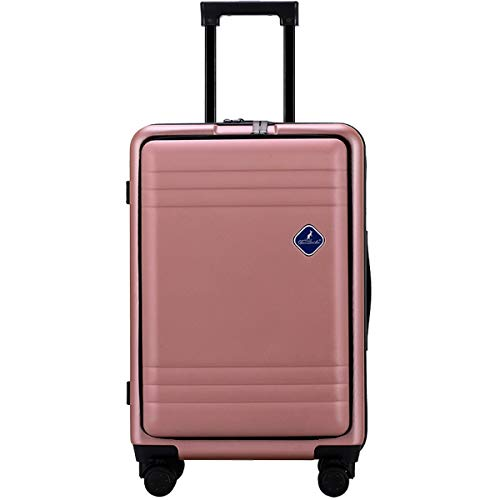 fosa1 Hand Luggage Trolley case ABS+PC Zipper Trolley Case, Universal Wheel Business Luggage Multi-function Large Capacity With Mezzanine Travel Bag, 20, 24 Inches