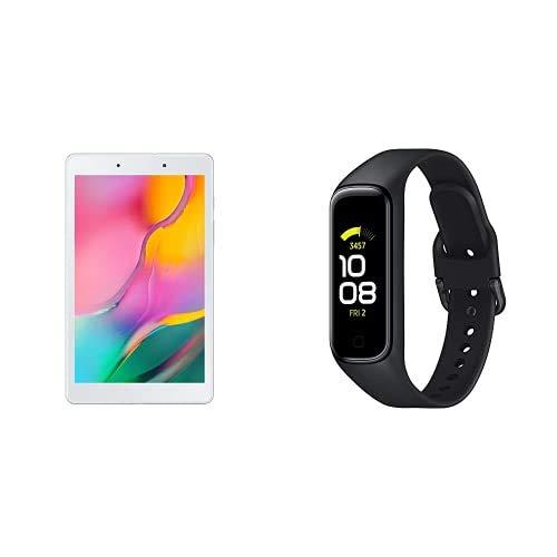 Samsung Galaxy Tab A (2019) - Tablet de 8' (Wi-Fi, RAM de 2GB, Almacenamiento de 32GB, Android actualizable), Color Plata + Galaxy Fit2 Negro