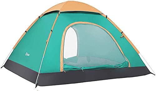 Ubon Tienda Instantánea de Campaña para 2-3 Personas Pop-Up Ligera Anti-UV Protección Solar Cortavientos Portátil Refugio para Playa Camping Parque Picnic Verde 3P
