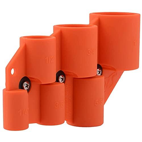 SharkBite U702A Deburring Pipe and Depth Gauge Tool, Copper, CPVC, PEX, PE-RT, HDPE, 1/4 Inch-1 Inch Sizes