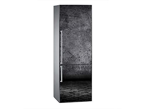 Oedim Vinilo para Frigorífico Pared Fondo Negro 185x60cm | Adhesivo Resistente y Económico | Pegatina Adhesiva Decorativa de Diseño Elegante