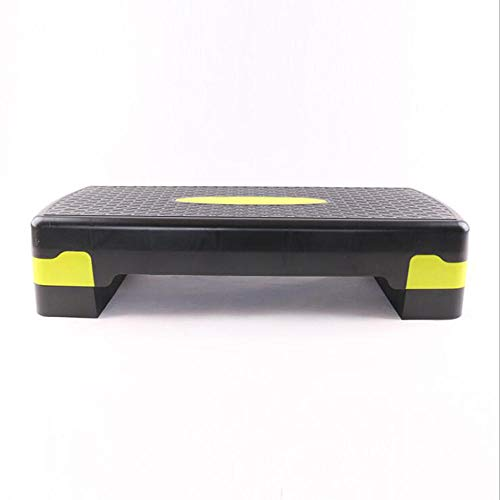 CHSSC Equipo de Ejercicio físico Paso aeróbico Altura Ajustable 2 Niveles 10 cm 15 cm Tabla de Entrenamiento Cardiovascular - Banco de Yoga 68 * 28 cm
