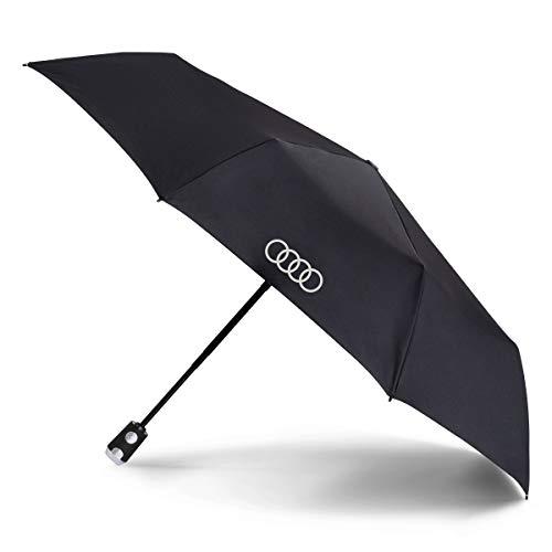 Audi collection 3121900200 Taschenschirm Regenschirm, schwarz