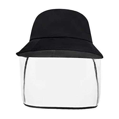 Kemier Máscara de Seguridad Escudo Anti-Niebla Salpicaduras de Polvo Sombrero de Pescador Desmontable para Exteriores,Máscara de Visera,Sombreros de Sol Ajustables para Aislamiento de Gérmenes