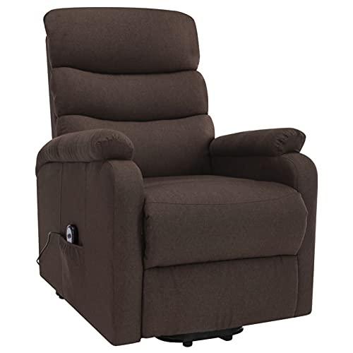 Susany Sillón de Masaje reclinable de Tela marrón Sillón reclinable butaca