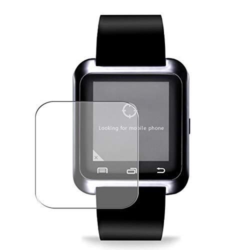 Vaxson 3 Stück Schutzfolie, kompatibel mit Smartwatch smart watch U8, Displayschutzfolie TPU Folie [ nicht Panzerglas ]