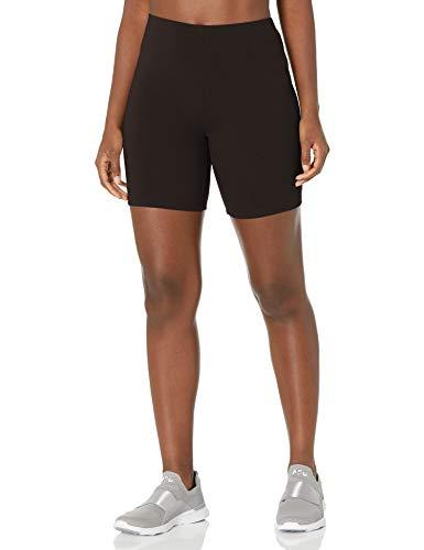 Hanes Women#039s Stretch Jersey Bike Short Black XLarge