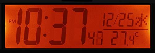 リズム(RHYTHM)置き時計レッド7.2x18.3x6.4cm電波時計目覚まし時計大音量電子音アラームデジタル8RZ220SR01